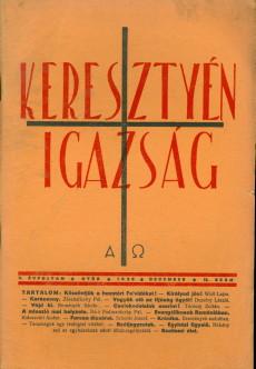 Keresztyén Igazság 1937 (november)