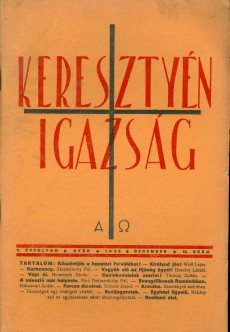 Keresztyén Igazság 1937 (július-augusztus)