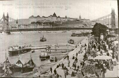 Piac a Duna parton Budapest 1907.