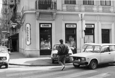 Stühmer édességbolt Budapest 1989.
