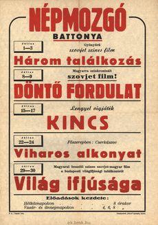 Népmozgó programjai 1949. július 1-30-ig
