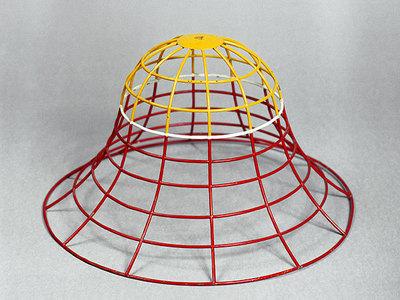 Drahtmodell einer Glockenfläche