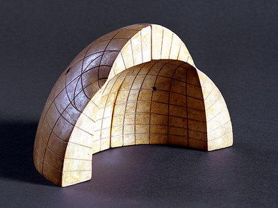 Fresnelsche Wellenfläche (aufgeschnitten), innen und außen vernetzt