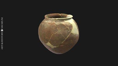 Globular vase with expanding rim