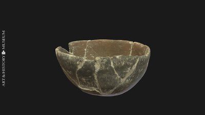 Round vase with straight rim, Vase rond à bord droit, Ronde vaas met rechte rand
