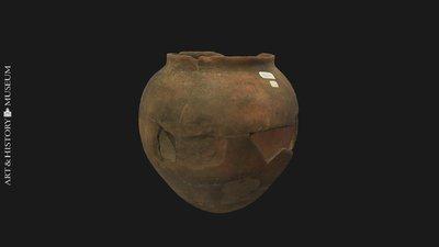 Egg-shaped pot with small opening and flaring rim, Vase ovoïde à ouverture étroite et à bord évasé, Eivormige pot met smalle opening en uitstaande rand