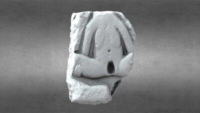 Limestone Figure, A Síle-na-Gig, HCM 033
