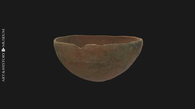 Bowl with conical base and tesson