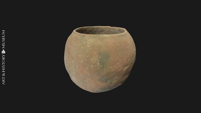 Egg-shaped pot with small opening