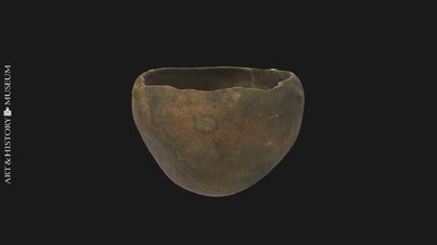 Bowl with conical base and receding rim