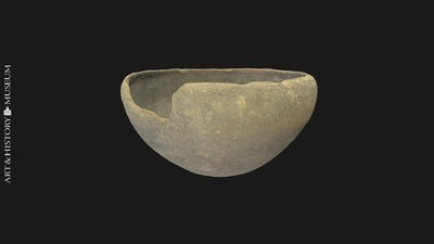 Bowl with conical base and receding rim, Coupe à bord rentrant et à fond ogival, Kom met conische bodem en naar binnen buigende rand