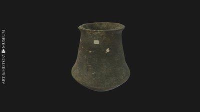 Carinated vase with flaring rim