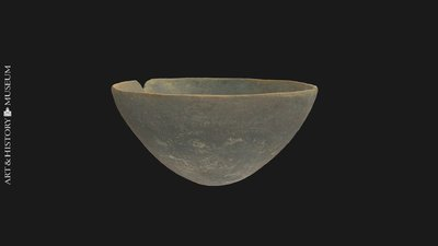 Bowl with conical base and flaring rim