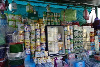 ANR COLOSTRUM (2013-2016) - Données de terrain du Cambodge, photographies: Entrepôt des boîtes de lait artificiel et des produits de puéricultures de la maternité de l'hôpital Calmette dans la ville de Phnom-Penh au Cambodge)