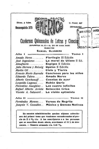 Música y danzas nativas : lectura en el Museo Nacional de Bellas Artes / Joaquín V. González