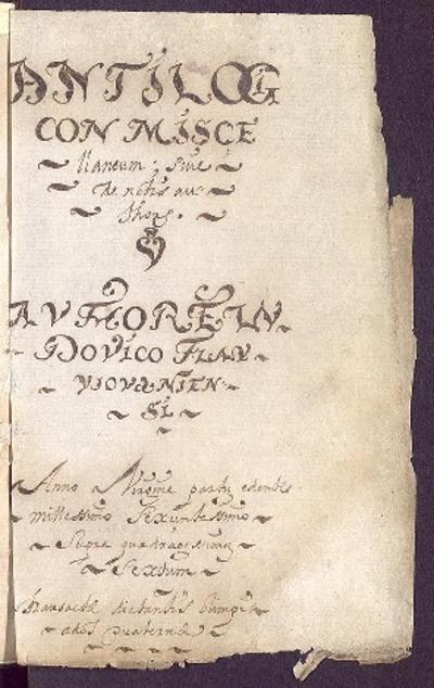 Antilogicon miscellaneum sive de notis authores [Manuscrito] / Authore Ludovico Flavus