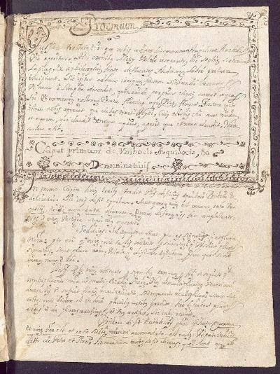 Curso de artes [Manuscrito] / per eundem SS.MM.P.Fr. Placidum Saenz ; Fr. Rupertus Guillén scripsit