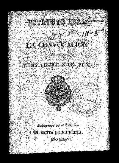 Estatuto Real para la convocación de las Cortes Generales del Reino