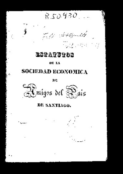 Estatutos de la Sociedad Económica de Amigos del País de Santiago