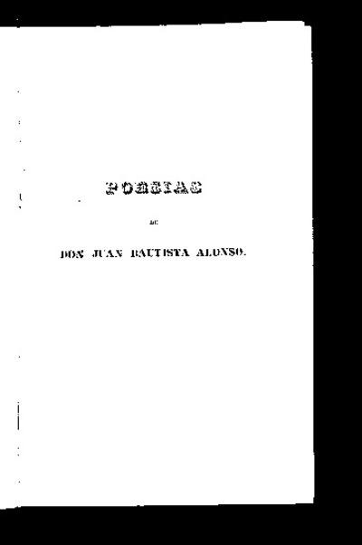Poesías de Don Juan Bautista Alonso