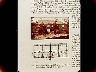 Sammanbyggd tvåfamiljhus, byggd 1914 i Kungsholmens villastad för c:a 32 000 kronor. Arkitekt John Åkerlund, Stockholm. Beställt av stadsarkitekt Edvin Stenfors, Järntorgsgatan 7, Örebro.