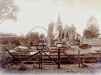 Gudhems klosterruin och kyrkan. Nr:101.