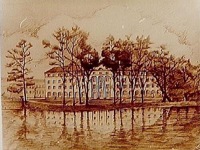 Nämndhuset, fyra vånings bostadshus, ritning. Arkitekt Arn