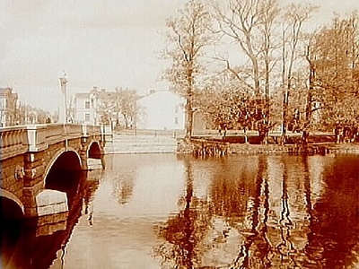 Vasabron till vänster, Barkenlund till höger. Arkitekt Arn
