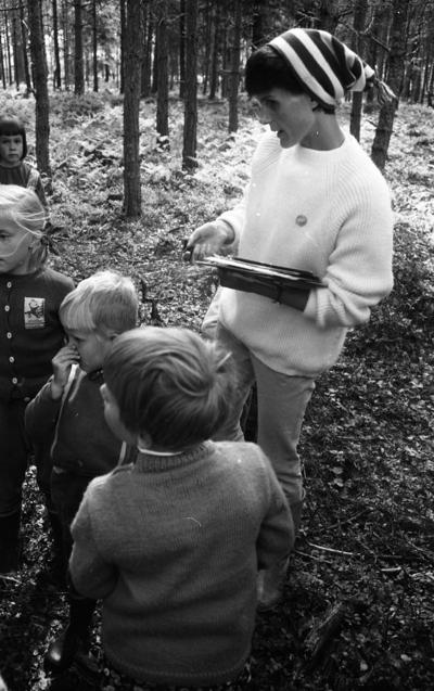 Skogsmulleskolan, 6 juni 1967  Oxhagenområdet.