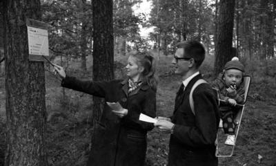 Gustavsvik, SJ orient. 18 september 1967 orientering, tipsprommenad Sommarro