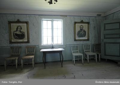 Siggebohyttans bergsmansgård, interiör. Juni 2005.
