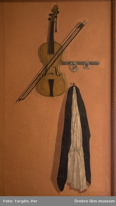 Trompe illusions målningar i västra flygeln på Ölsboda herrgård. (tromp l´oeil - måleri = lura ögat).