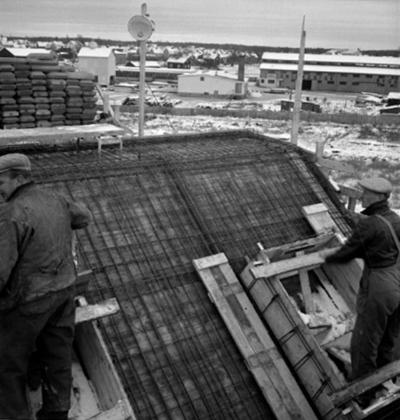 Byggnadsarbete, Johnson Metalls nybygge.
