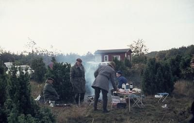 18 oktober 1968. Tore Fagerling vid bordet i mitten av bild.