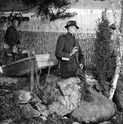 Jakt- och Naturvårdsutställningen, utställningsmonter med Rappson-kläder.