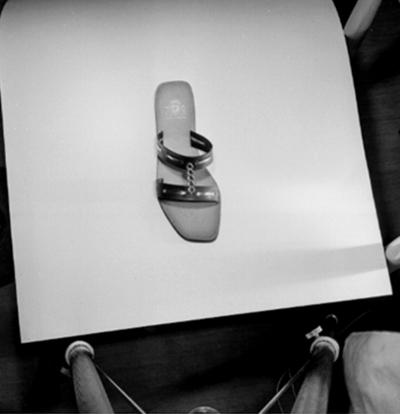 En sko. Oscaria Skofabrik.