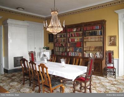 Inventering av Karlslunds byggnader. Corps de logiet, interiört. Bibliotek. Dnr: 2011.250.050