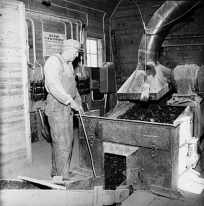 Osjöbergs gruvor, en gruvarbetare.