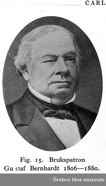 Skogaholms herrgård. Brukspatron Gu staf Bernhardt 1806-1880.