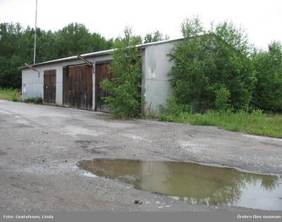 Yxhultprojektet, etapp 1, inventering av Yxhultsbolagets industriområden samt lämningar i landskapet. Hynneberg 1:21, Södra fabriksområdet. Aluminiumförråd, exteriör.