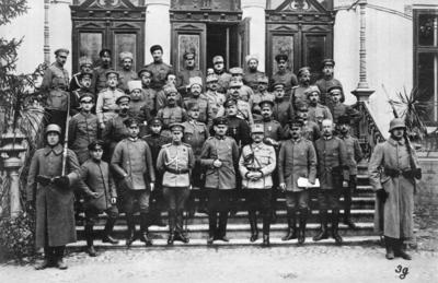 Första världskriget. Vapenstilleståndsdelegationen.