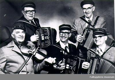 Magdeburgarna 1978. Övre raden: John Karlsson, Paul Lund. Nedre raden: Axel Brenklert, Evald Karlsson, Gunnar Karlsson.