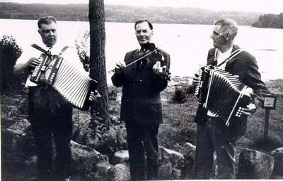 Magdeburgarna vid Stråken. John Karlsson, Axel Brenklert och Gunnar Karlsson.