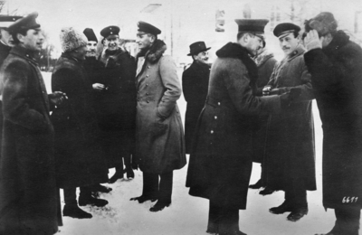 Första världskriget. Ryska officerare.