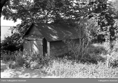 Gamla stan 1:6 NÖ.  Huset rivet 1986.  F.d. garage.