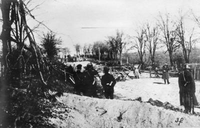 Första världskriget. Fredsförhandlingsdelegation anländer.
