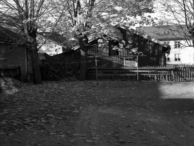 Ällagatan 4. Telegrafverkets uthus sett från gamla