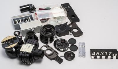 Filterhållare, filter, linser, prisma