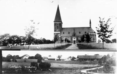 Prästgården och kyrkan i Eriksberg.