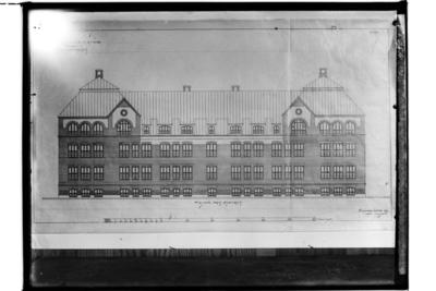 Husritningar, Gellivare Folkskola. Arkitekt Karl Nissen, Drottninggatan 5, Örebro.